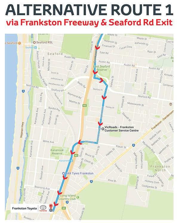 Frankston Toyota Alternative Route 1
