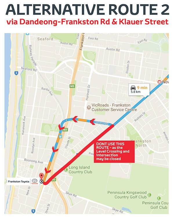 Frankston Toyota Alternative Route 2